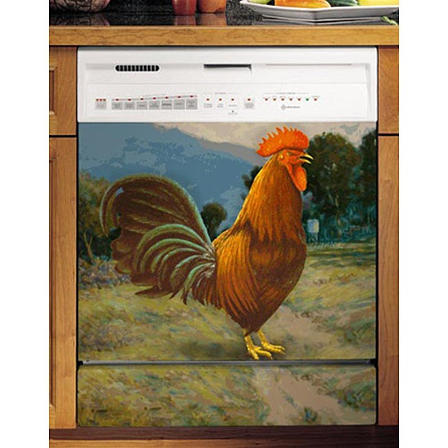 Appliance Art's Traditional Rooster Dishwasher Cover