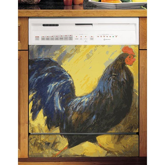 Appliance Art S Painted Blue Rooster Dishwasher Cover