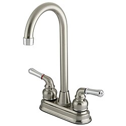 Megallan Satin Nickel and Chrome Bar Faucet