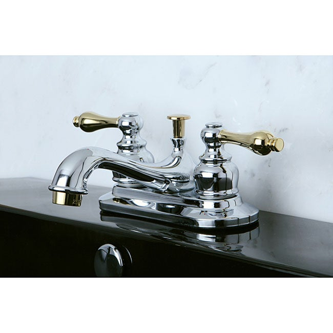 Bathroom Faucets Chrome : Restoration Classic Chrome and Polished Brass Bathroom Faucet - Free ...
