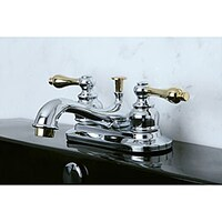 Shop Twotone Chrome And Brass Bathroom Faucet Free Shipping Today - Gold and chrome bathroom faucets