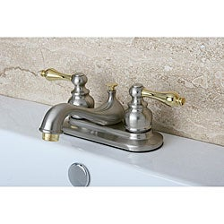 Restoration Classic Satin Nickel and Polished Brass Bathroom Faucet