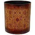 Handmade Olde-Worlde Brown Baroque Waste Basket (China)