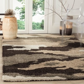 Safavieh Camouflage Shag Beige/ Multicolored Rug (5'3 x 7'6)