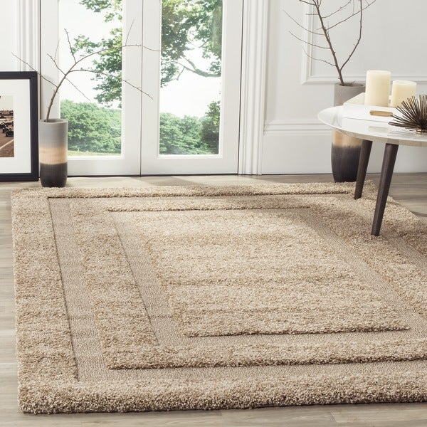 Safavieh Shadow Box Ultimate Beige Shag Rug (4' x 6')