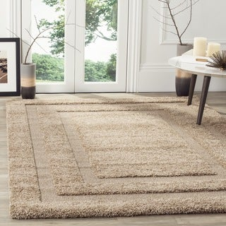 Safavieh Ultimate Shadow Box Shag Beige Rug (5'3 x 7'6)