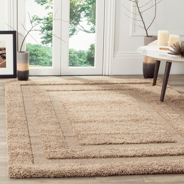 Safavieh Shadow Box Ultimate Beige Shag Rug - 8' x 10'