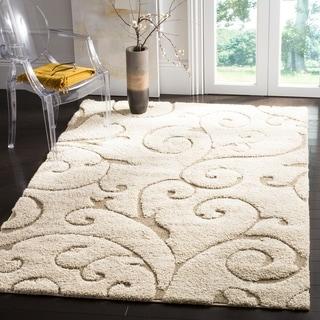 safavieh florida shag scrollwork elegance cream beige rug 5u00273 x