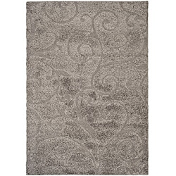 Safavieh Florida Ultimate Shag Dark Grey/ Beige Rug (4' x 6')