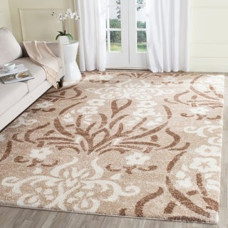 Safavieh Florida Shag Beige/ Cream Damask Area Rug (8' x 10')