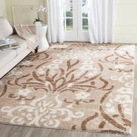 Safavieh Florida Shag Beige/ Cream Damask Area Rug - 8' x 10'