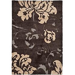 Safavieh Ultimate Dark Brown/ Beige Shag Rug (8' x 10')