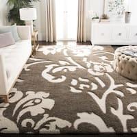 Safavieh Florida Shag Smoke/ Beige Floral Area Rug - 8' x 10'