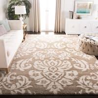 Safavieh Florida Shag Beige/ Cream Damask Area Rug - 8' x 10'