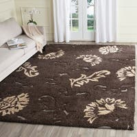 Safavieh Florida Shag Elegant Cream/ Dark Brown Area Rug - 5'3' x 7'6'
