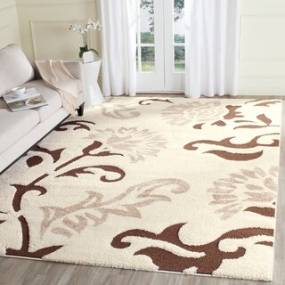 Safavieh Florida Shag Elegant Cream/ Dark Brown Area Rug - 8' x 10'
