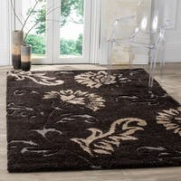 "Safavieh Florida Shag Dark Brown/ Smoke Area Rug - 5'3"" x 7'6"""
