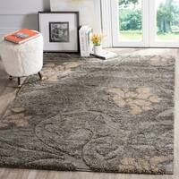 Safavieh Florida Shag Grey / Beige Area Rug - 4' x 6'