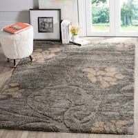 "Safavieh Florida Shag Grey / Beige Area Rug - 5'3"" x 7'6"""
