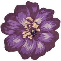 Safavieh Handmade Novelty Lilac Shaped Wool Rug - 5' x 5' round