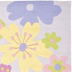 Safavieh Handmade Children's Daisies Violet N. Z. Wool Rug (8' x 10') - Thumbnail 1
