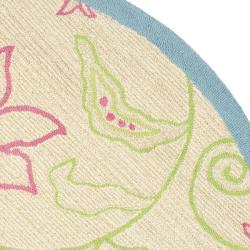 Safavieh Handmade Children's Paisley Ivory New Zealand Wool Rug (6' Round)