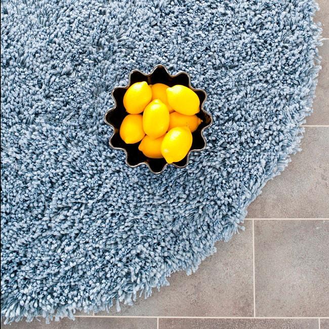 safavieh classic ultra handmade light blue shag rug 6u0026x27