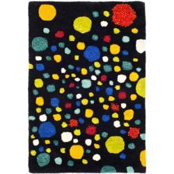 Safavieh Handmade Soho Space Modern Abstract Black Wool Rug - 2' x 3' - Thumbnail 0