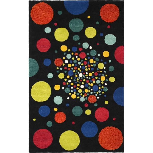 Safavieh Handmade Soho Space Modern Abstract Black Wool Rug (3' 6 x 5' 6)