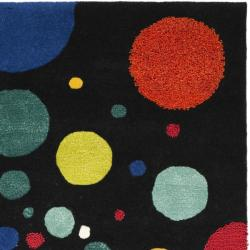 Safavieh Handmade Soho Space Modern Abstract Black Wool Rug (3' 6 x 5' 6) - Thumbnail 1