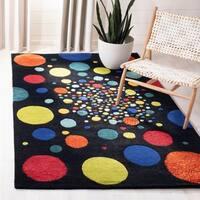 "Safavieh Handmade Soho Space Modern Abstract Black Wool Rug - 3'-6"" x 5'-6"""