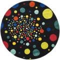 Safavieh Handmade Soho Space Modern Abstract Black Wool Rug - 6' x 6' Round