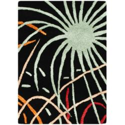Safavieh Handmade Soho Fireworks Black New Zealand Wool Rug (2' x 3')