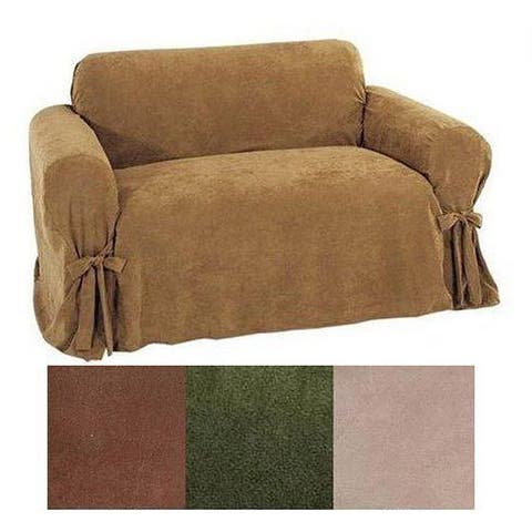 Heavy Microsuede Loveseat Slipcover