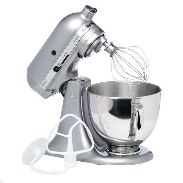Shop Kitchenaid Rrk150cu Contour Silver 5 Quart Artisan