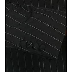 Savile Row Men's Black Stripe Suit