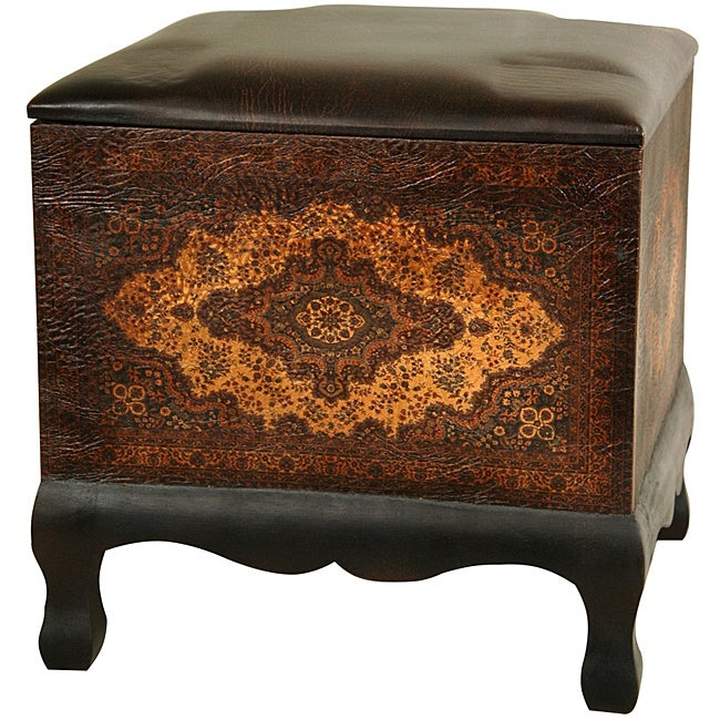 Handmade Olde-World Baroque Ottoman/ Stool (China)