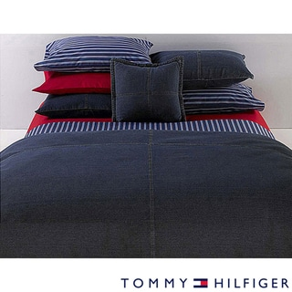 Shop Tommy Hilfiger Twin Size All American Denim Comforter