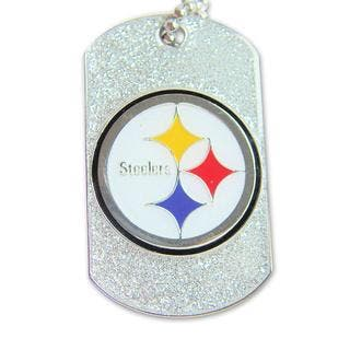 Pittsburgh Steelers Dog Tag Charm Chain Necklace|https://ak1.ostkcdn.com/images/products/5666299/P13413817.jpg?impolicy=medium
