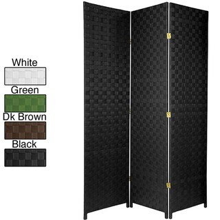 Handmade Woven Wood/ Fiber 6-foot All-weather Outdoor Divider (China)