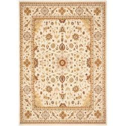 Safavieh Handmade Majesty Ivory/ Ivory New Zealand Oriental Wool Rug - 4' x 5'6' - Thumbnail 0