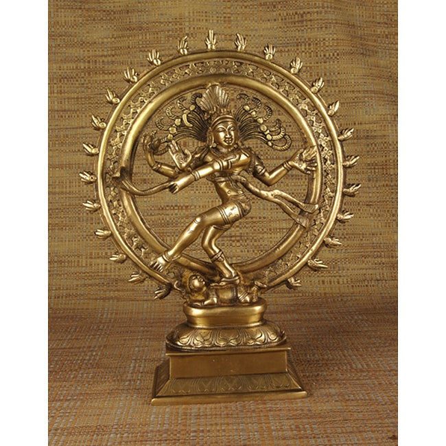 Brass 14-inch Nataraja Statue (India)