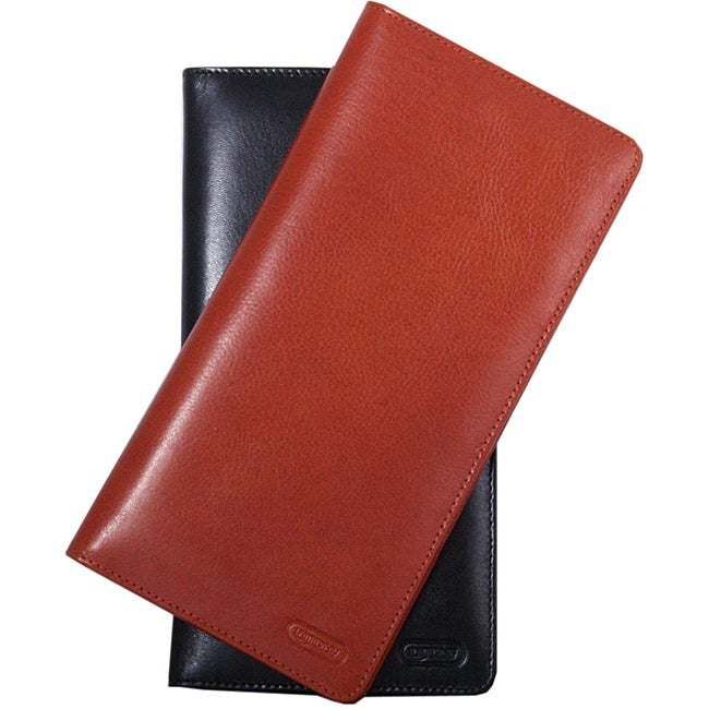 International Travel Cognac Leather Wallet