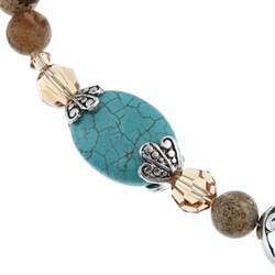 Crystale Created Stone Teardrop Fashion Necklace