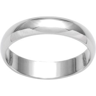 10k White Gold Women's Half-round 4-mm Wedding Band