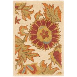 Safavieh Handmade Blossom Flowers Ivory Wool Rug (2' x 3') - 2' x 3' - Thumbnail 0