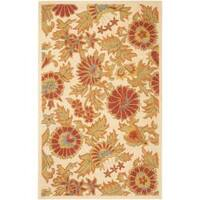 Safavieh Handmade Blossom Flowers Ivory Wool Rug - 3' x 5'