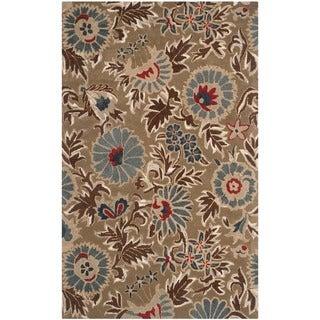 Safavieh Handmade Blossom Deliah Modern Floral Wool Rug (89 x 12 - Beige/Multi)