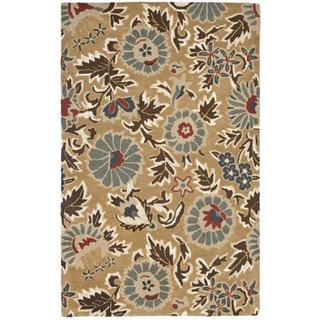 Safavieh Handmade Blossom Deliah Modern Floral Wool Rug (8 x 10 - Beige/Multi)