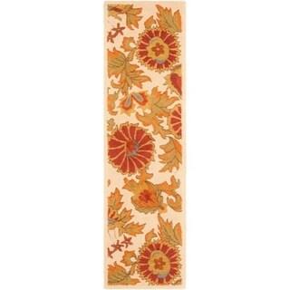 Safavieh Handmade Blossom Deliah Modern Floral Wool Rug (23 x 6 Runner - Ivory/Multi)